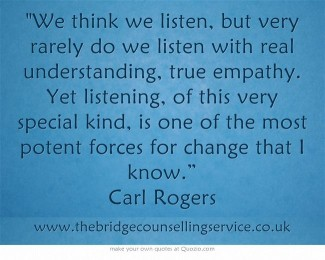 Carl Rogers quote about empathy