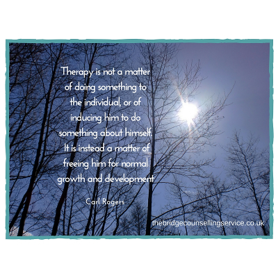 Ipswich counselling | quote by Carl Rogers about freeing the individual for growth | The Bridge Counselling Service, Ipswich