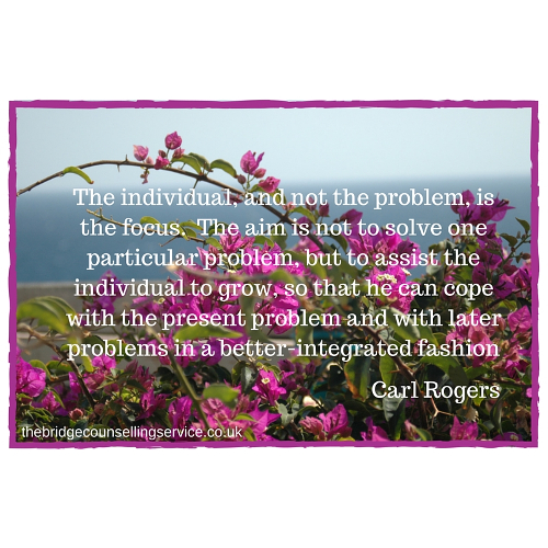 Ipswich counsellor | Donna Gibson | quote by Carl Rogers about the individual | The Bridge Counselling Service, Ipswich