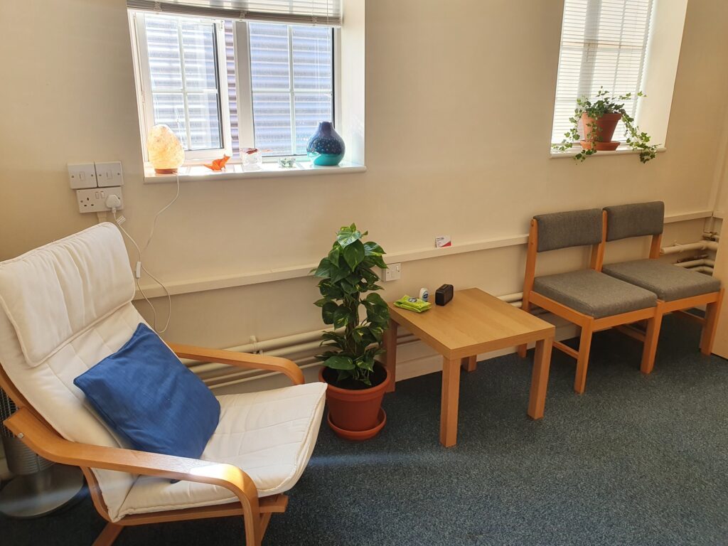 Image of counselling room at The Bridge Counselling Service in Ipswich